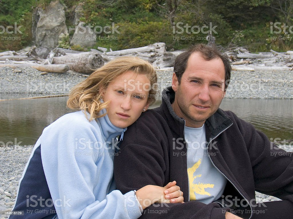 Protective father royalty-free stock photo