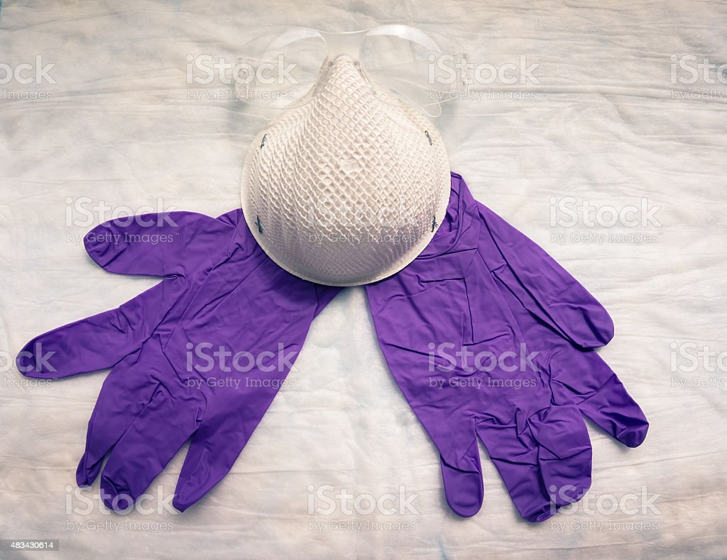 protective gear for laboratory workers stock photo