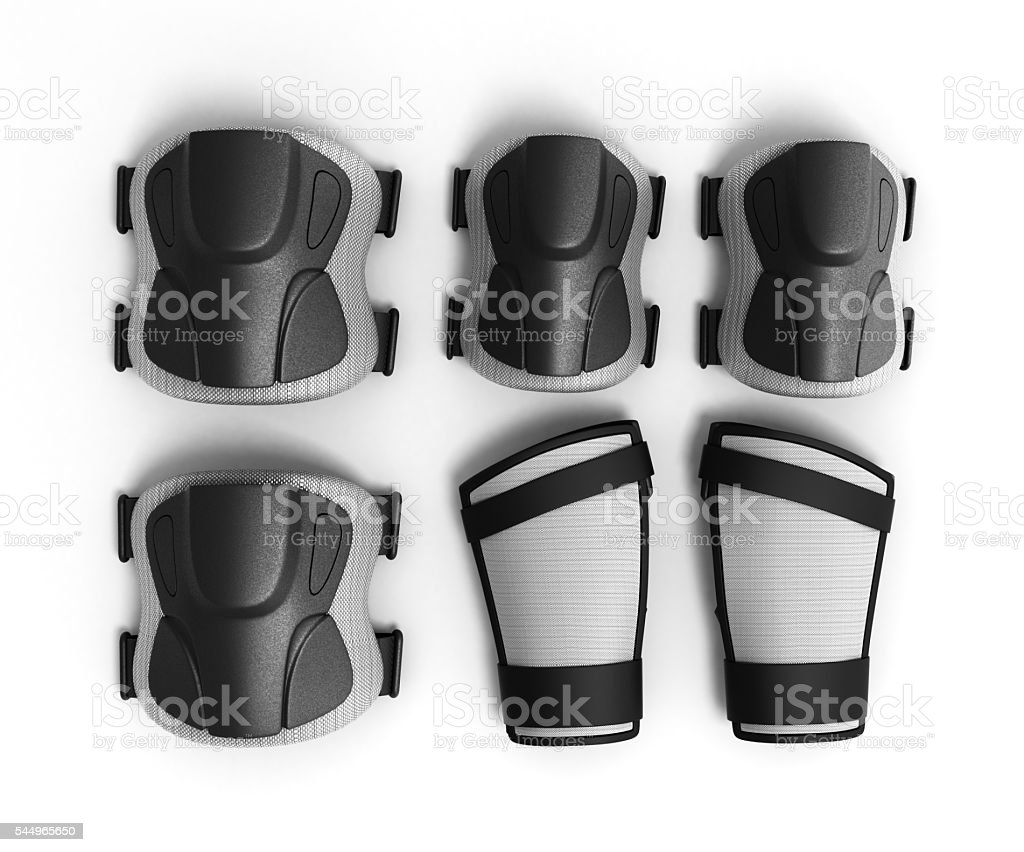 Protective gear for multi sport 3d render on white background stock photo