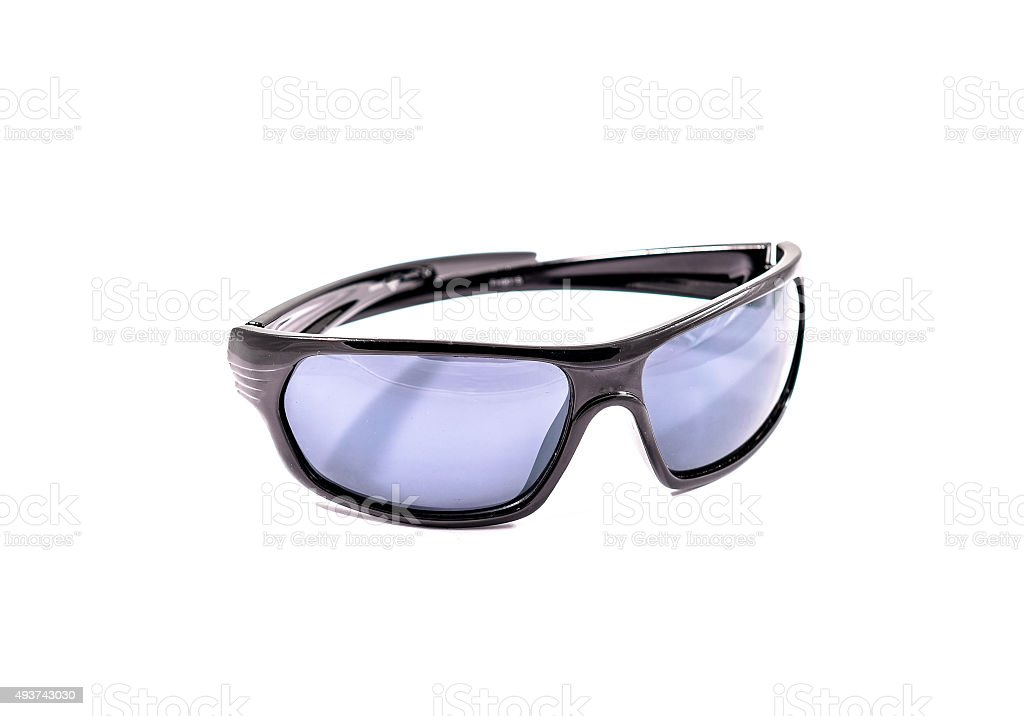 Protective gear sport sunglasses isolated in white stock photo