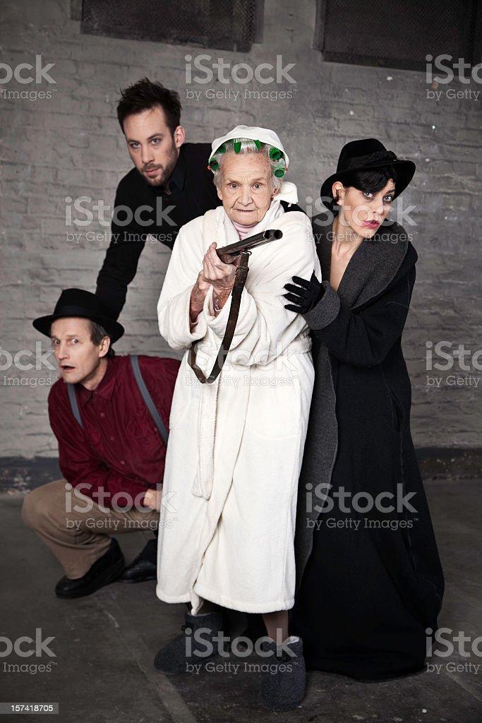 Protective grandma royalty-free stock photo