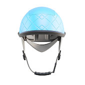 Protective helmet isolated on a white background. 3d rendering