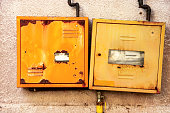 Protective metal box of gas meter