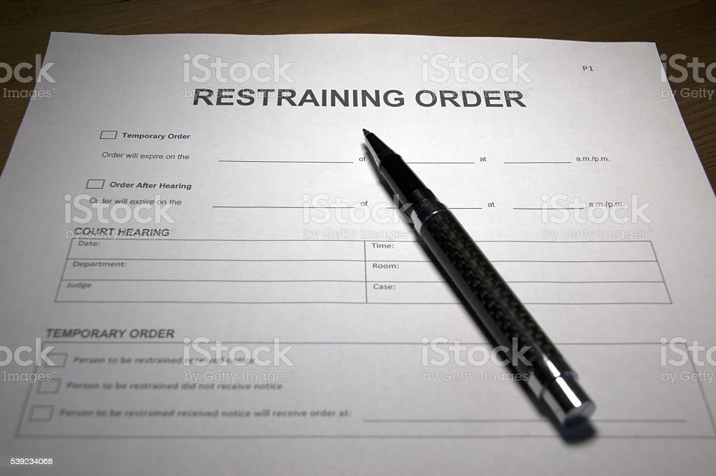 Protective Order stock photo