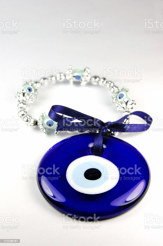 Protective Powers of Turkish Evil Eye Pendants royalty-free stock photo