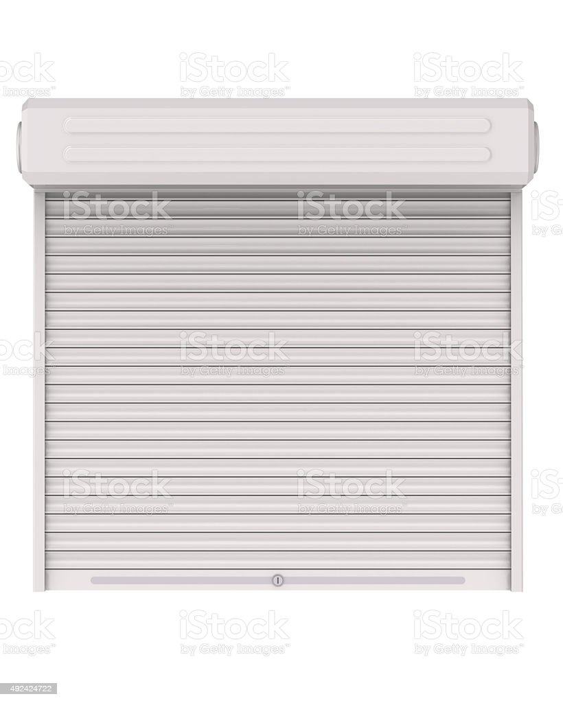 Protective shutters (roller blind, blinds) stock photo
