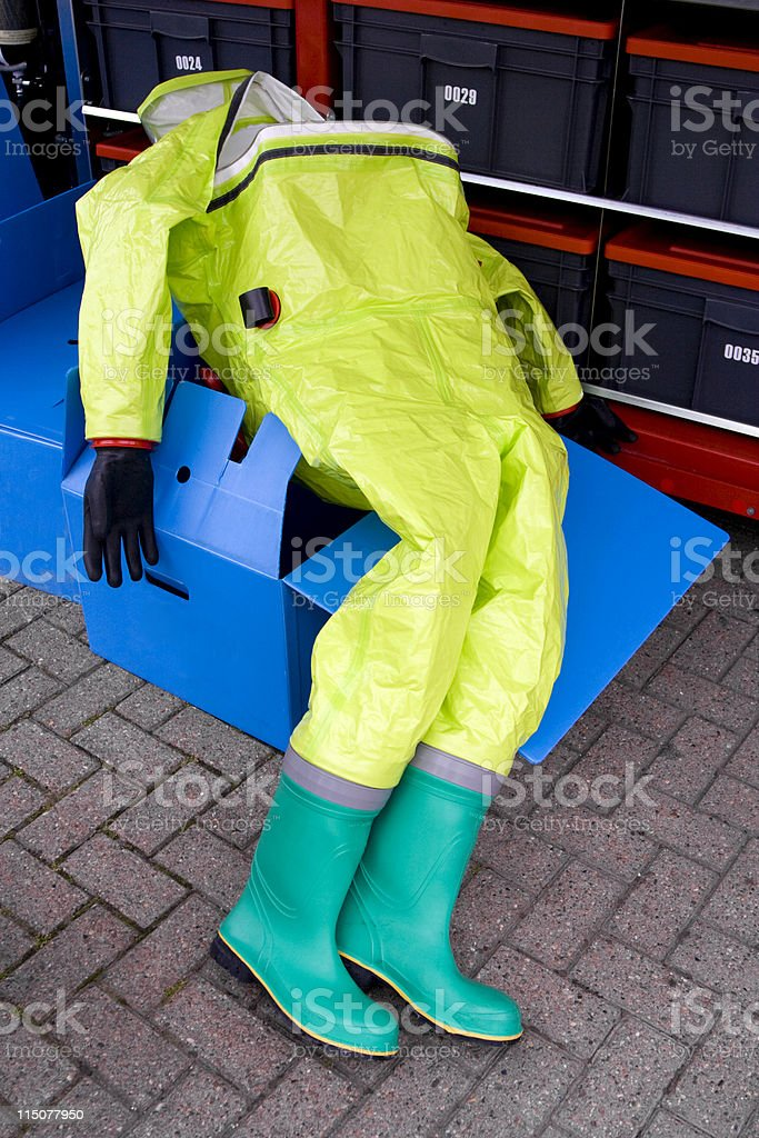 NBC protective suit royalty-free stock photo