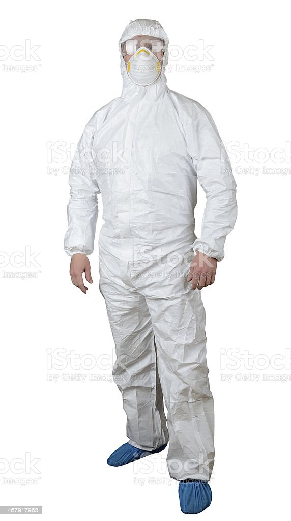 protective suit stock photo