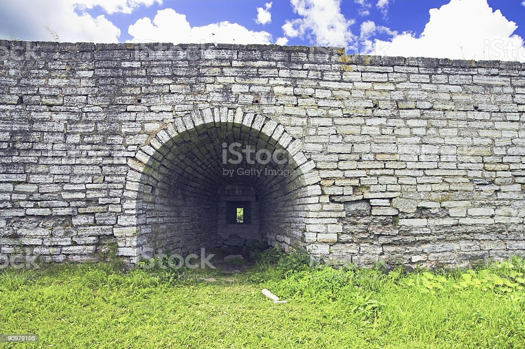 Protective Wall royalty-free stock photo
