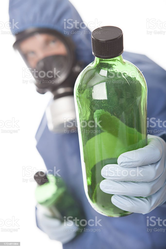 Protective workwear for manual worker royalty-free stock photo