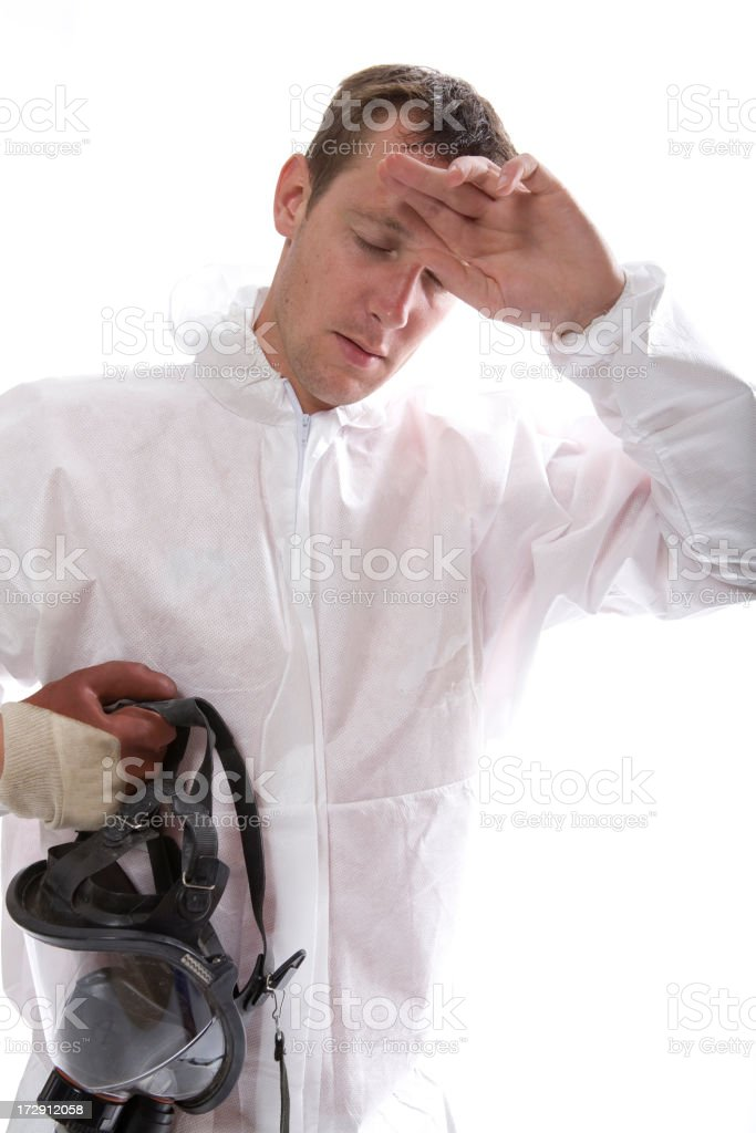 Protective workwear for manual worker. stock photo