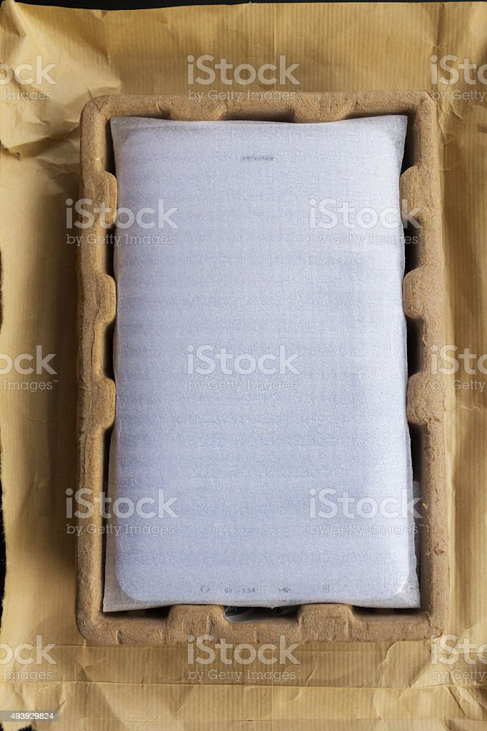 Protector Tablet Packaging before being released stock photo