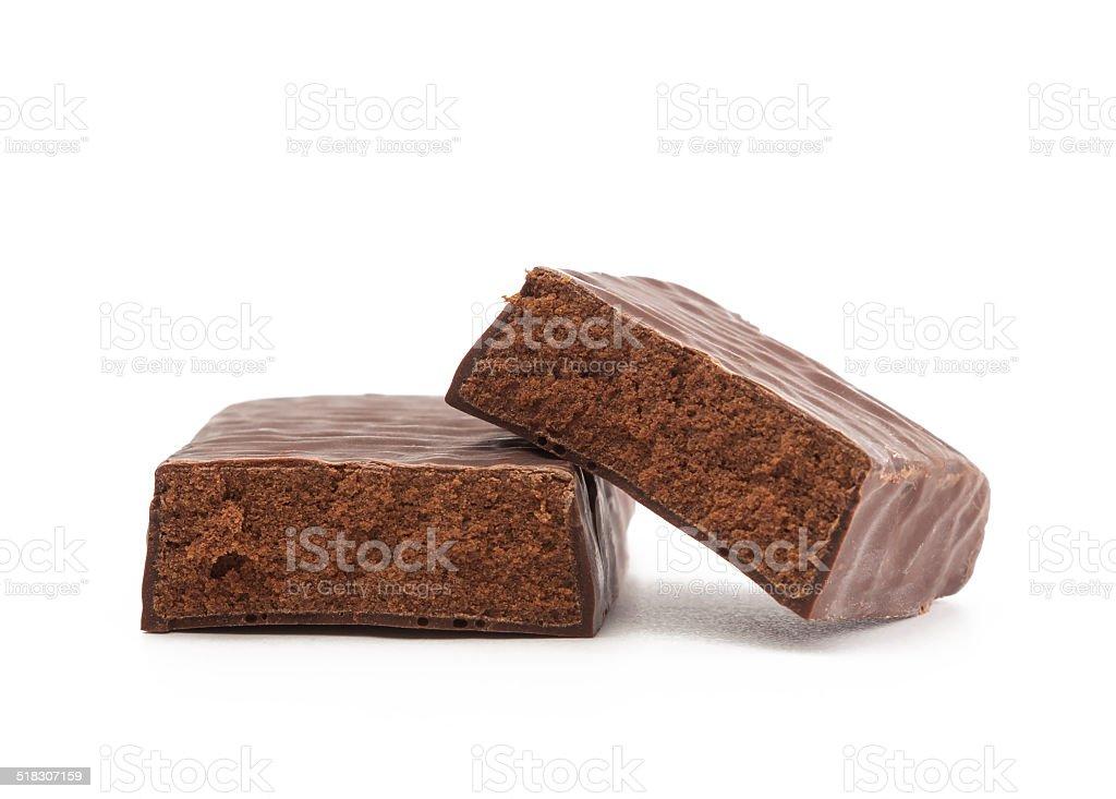 Protein Bar Cut in Half stock photo