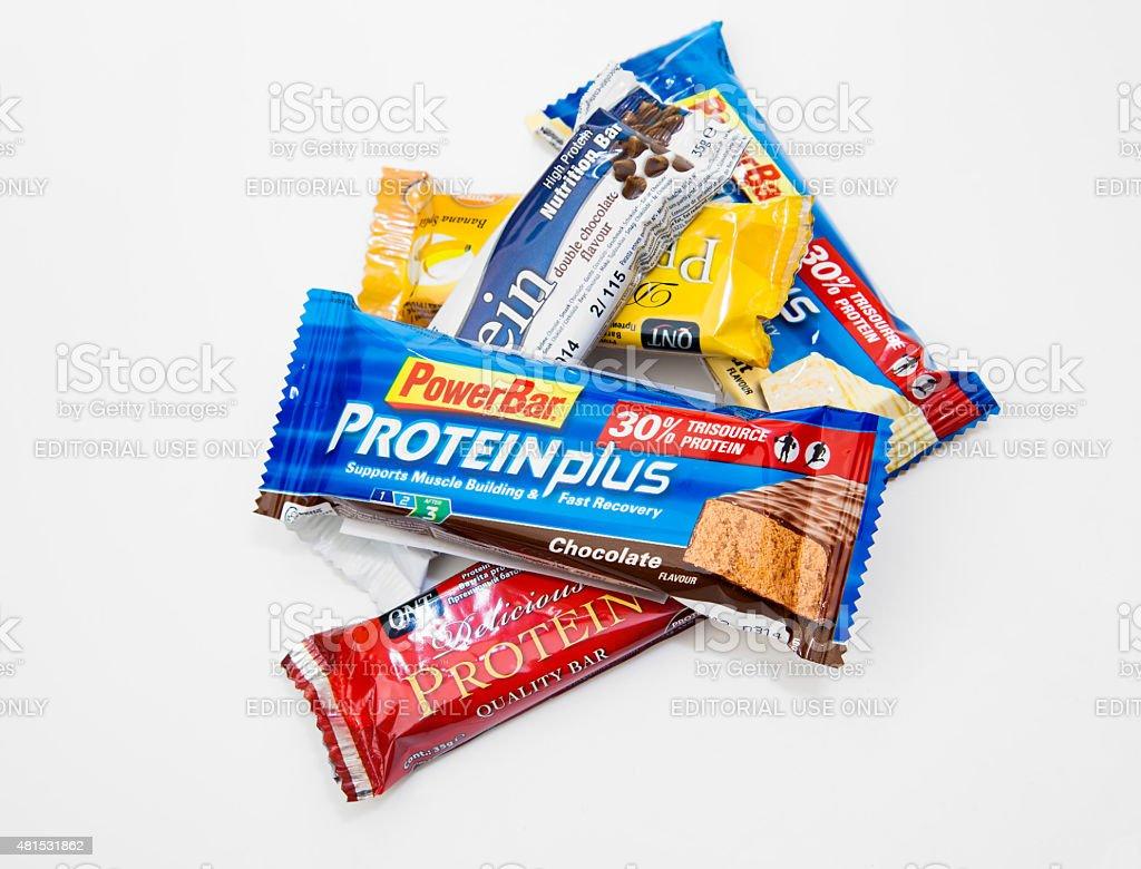 Protein Bars stock photo