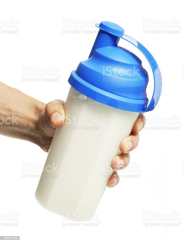 protein drink stock photo
