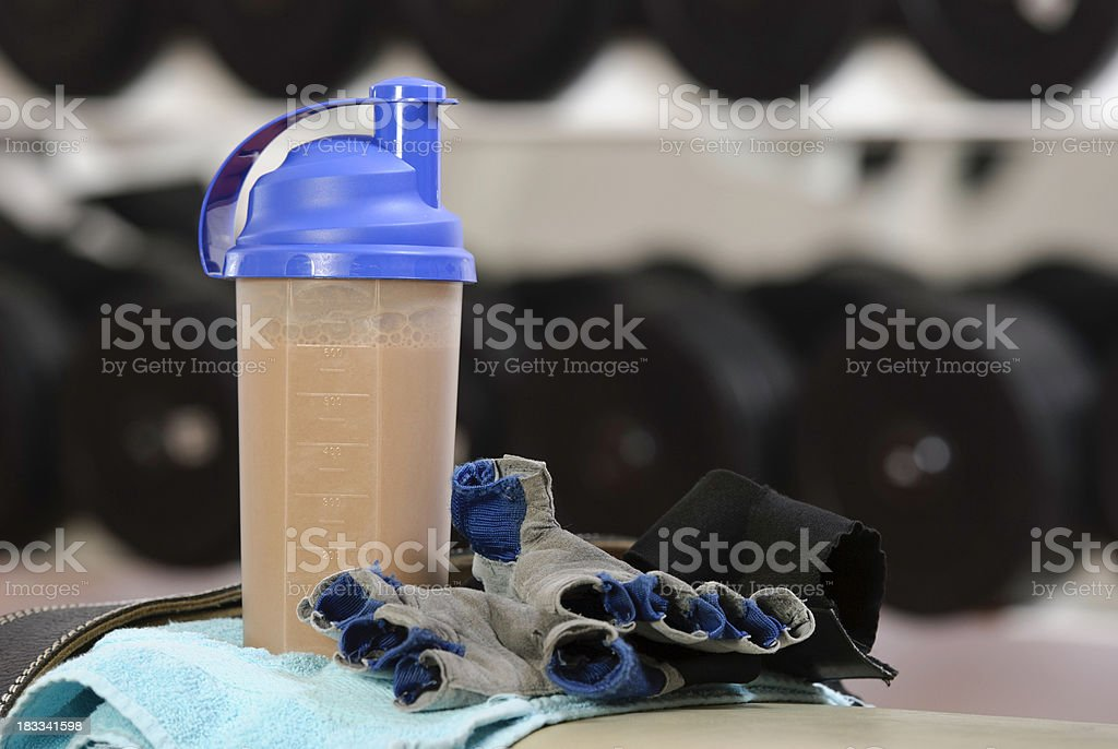 protein drink royalty-free stock photo