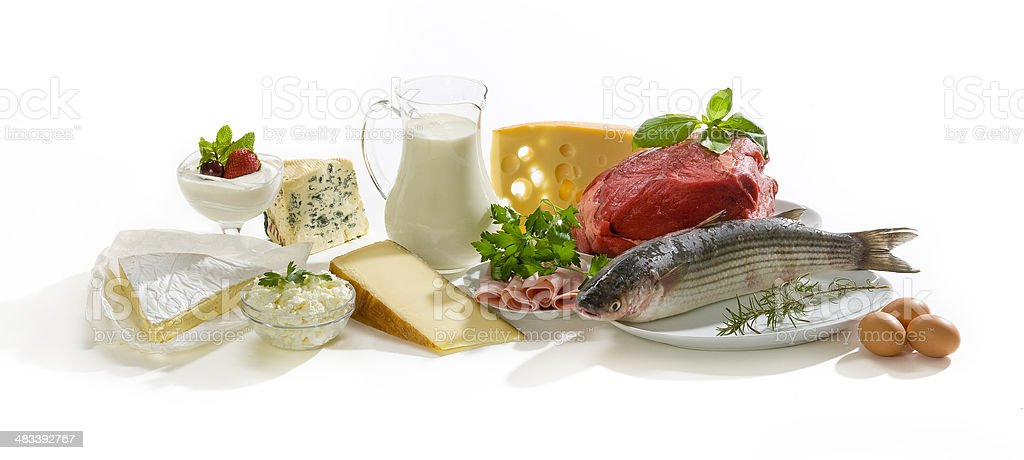 Protein food stock photo