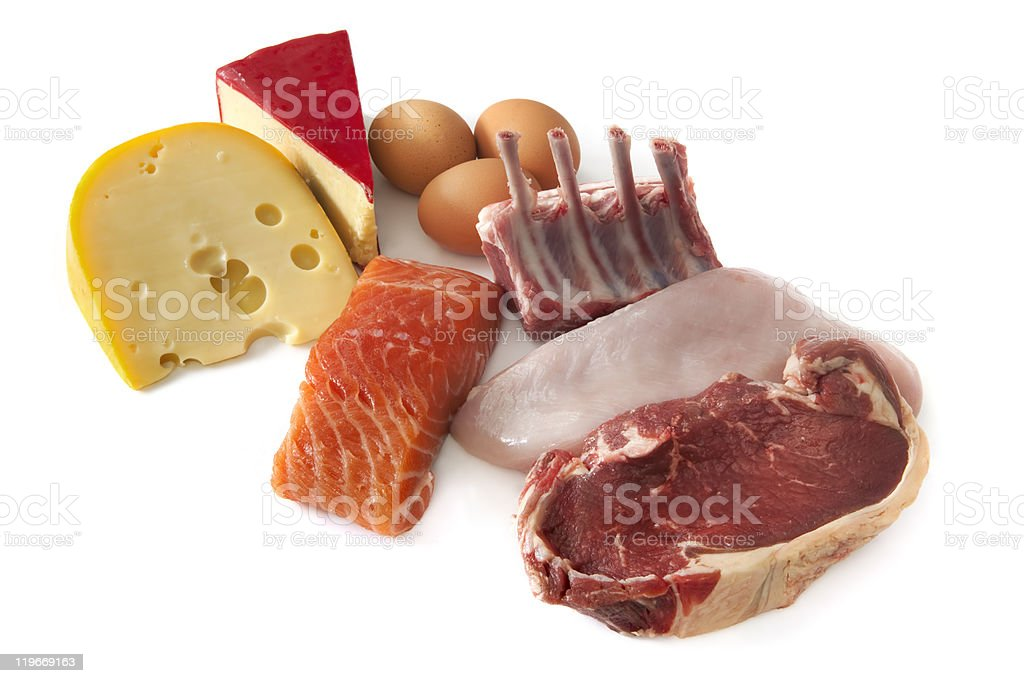 Protein Foods royalty-free stock photo