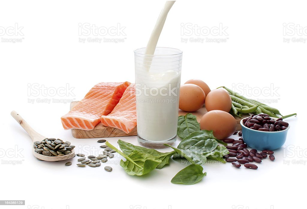Protein foods stock photo