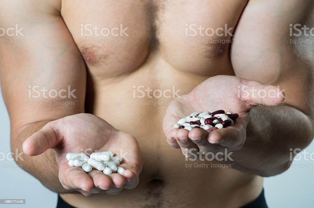 protein: natural or synthetic food? stock photo