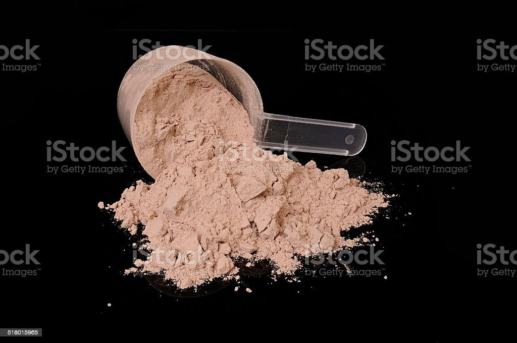Protein powder stock photo