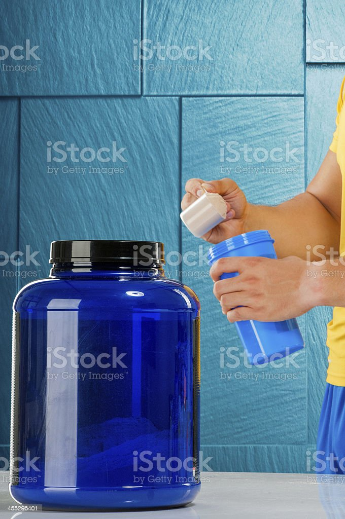 Protein serving post workout royalty-free stock photo