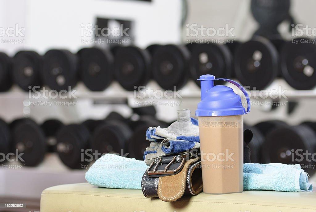 protein shake stock photo
