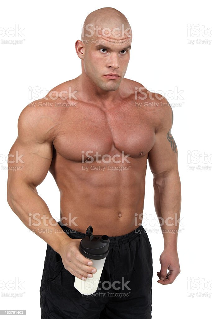 Proteins after hard training royalty-free stock photo