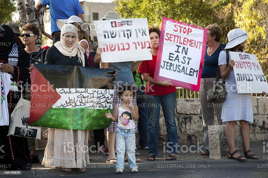 Protest Against Israeli Settlements royalty-free stock photo