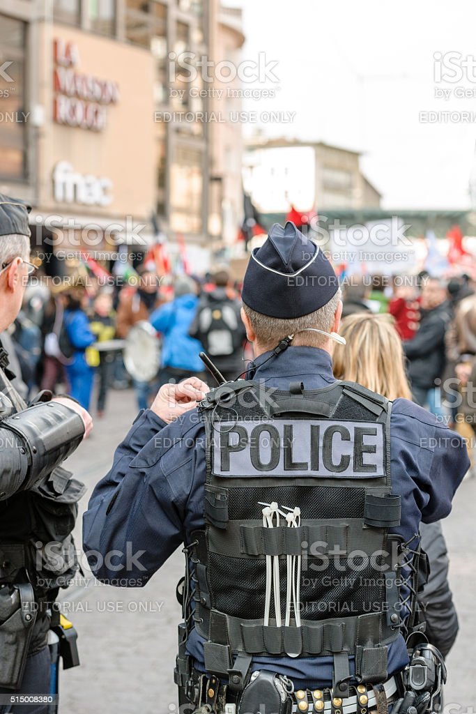 Protest against Labour reforms in France stock photo