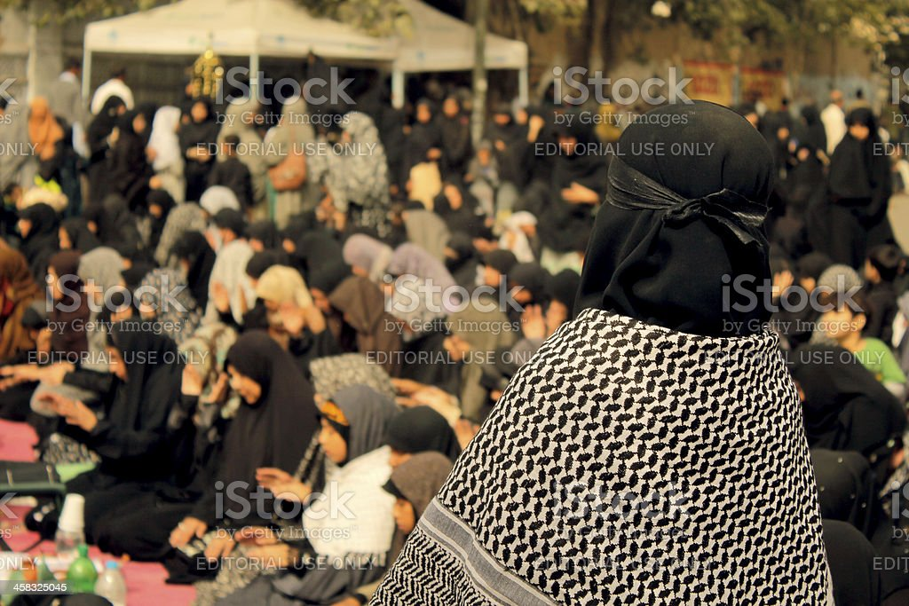 Protest against Shia Muslims Genocide at Karachi royalty-free stock photo