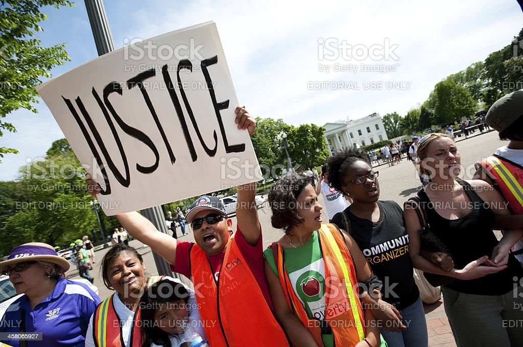 Protest at White House stock photo