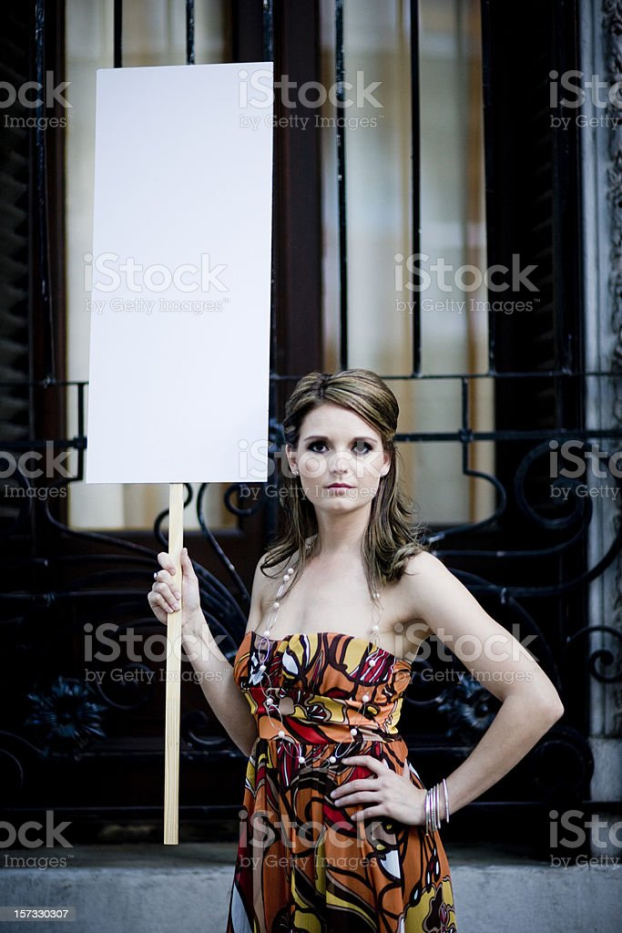 Protest Banner royalty-free stock photo