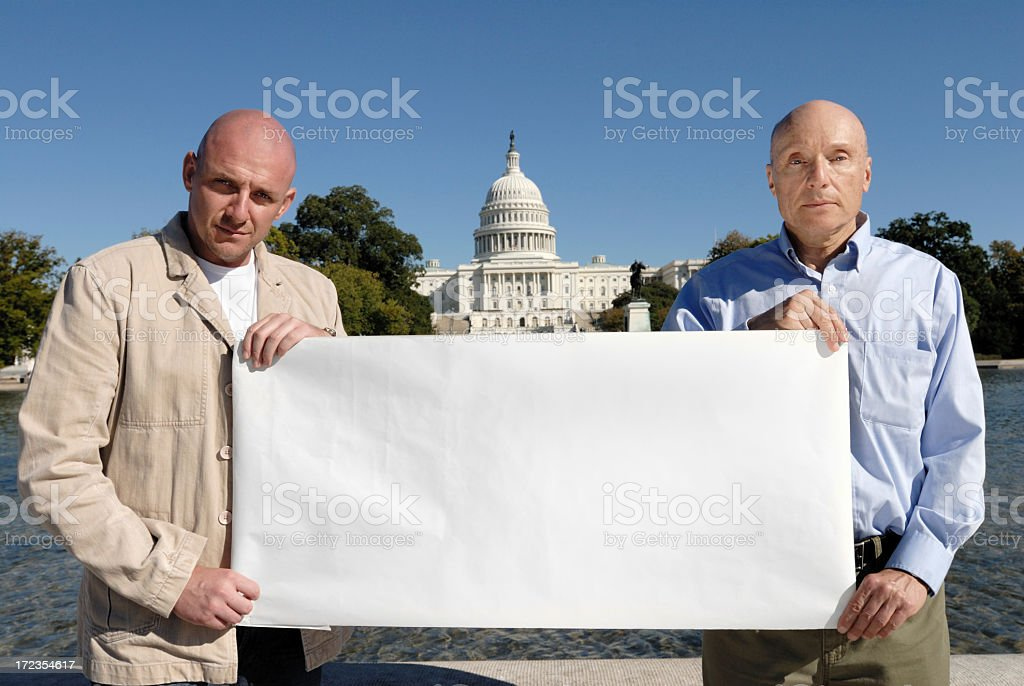 Protest  - Blank Sign royalty-free stock photo