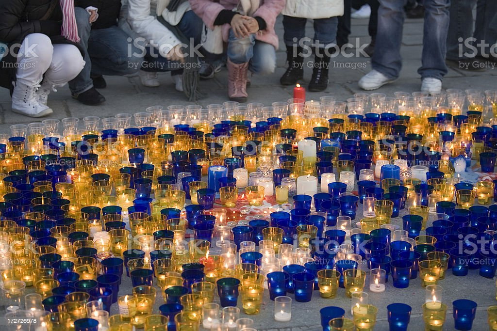Protest Candles royalty-free stock photo