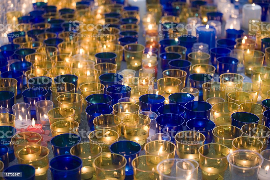Protest Candles stock photo