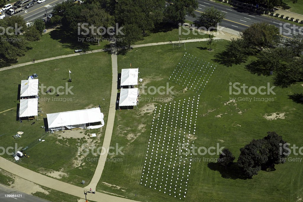 Protest Cemetery royalty-free stock photo