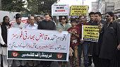 Protest demonstration against Indian brutality in Kashmir
