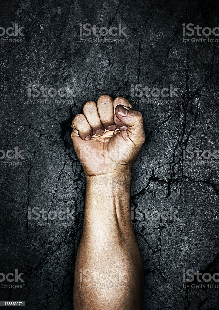 Protest fist stock photo