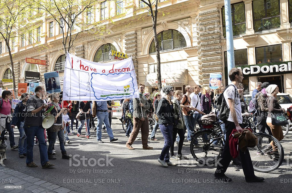 Protest for Animal Rights in Vienna Austria stock photo