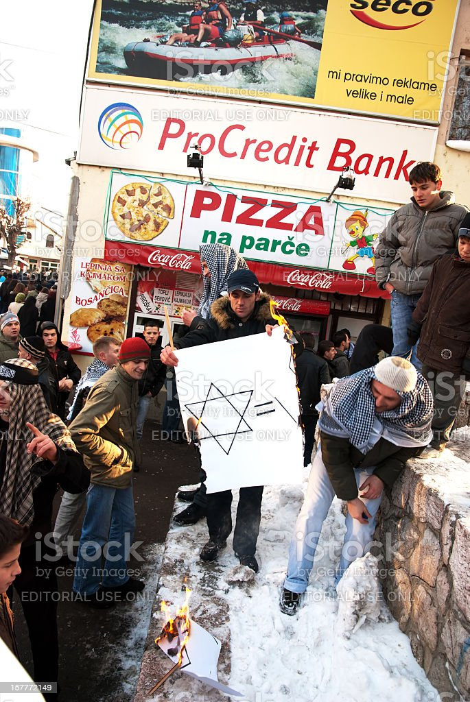 Protest for Palestine, January, 2009. royalty-free stock photo