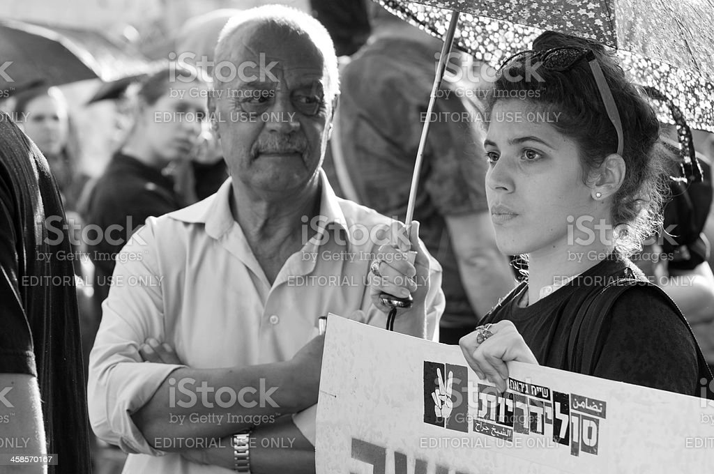 Protest in Jerusalem royalty-free stock photo