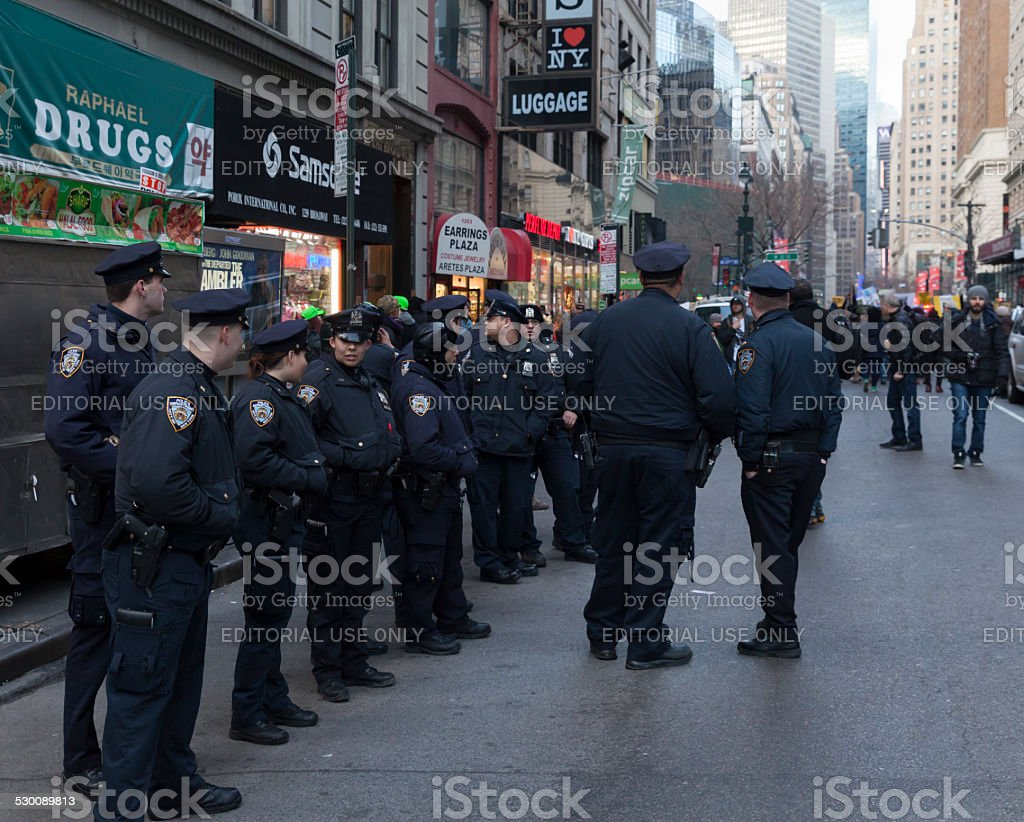 Protest in New York stock photo