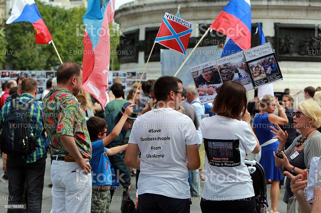 Protest manifestation against war in Ukraine royalty-free stock photo