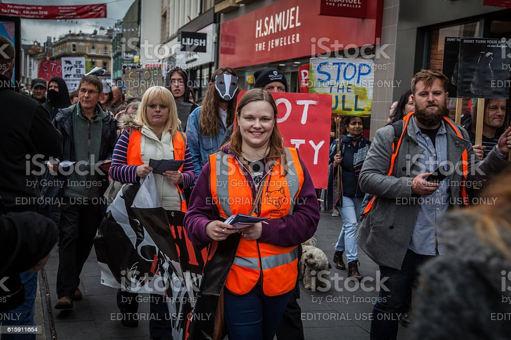 Protest March for animal rights stock photo