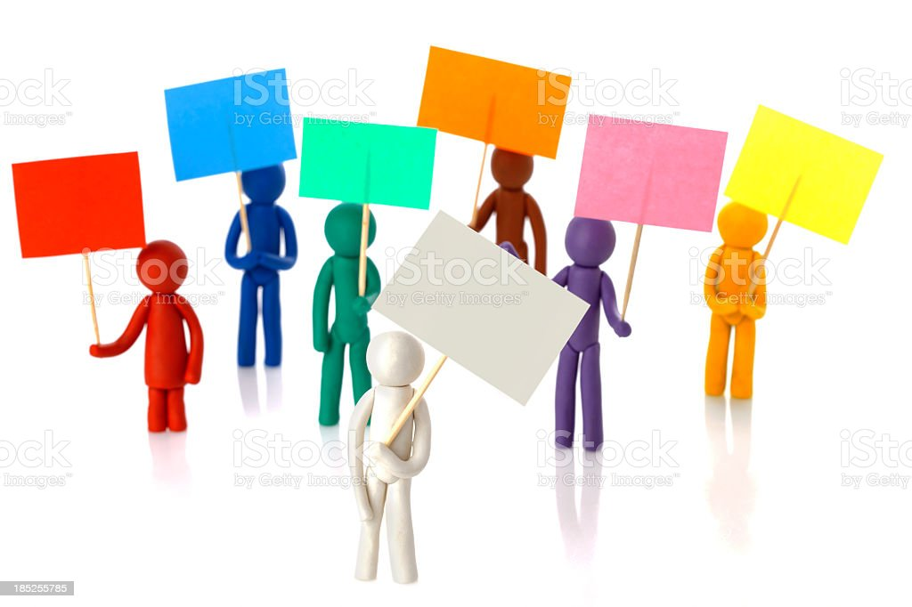Protest People royalty-free stock photo