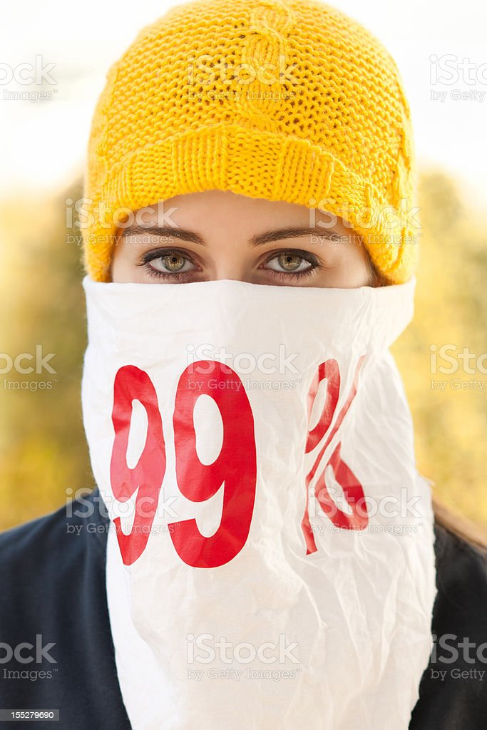 protester royalty-free stock photo