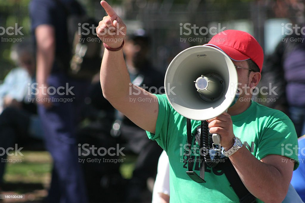 Protester stock photo