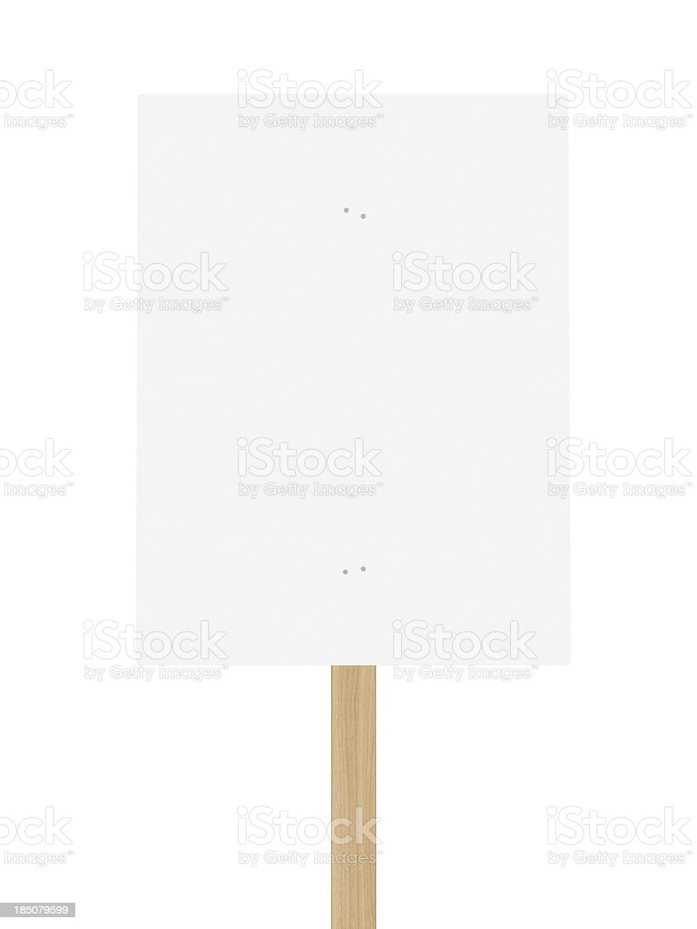Protest Placard - Front royalty-free stock photo