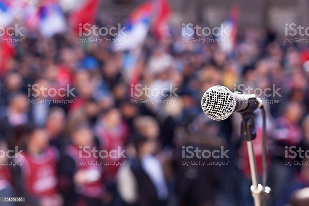 Protest. Public demonstration. stock photo